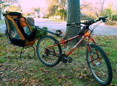 The Tout Single Trailer is the ideal solution for families who are interested in biking, camping, and long hikes even on rough terrains. #family #adventure #design #camping #travel #hiking #product #industrial #biking #outdoor #fun