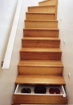 Under stairs storage: brilliant | Unclutterer ($500+) — Svpply #stairs