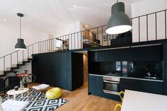 Black kitchen, Colonia Roma apartment, DF Mexico, Cadaval & Sola-Morales. #black #kitchen