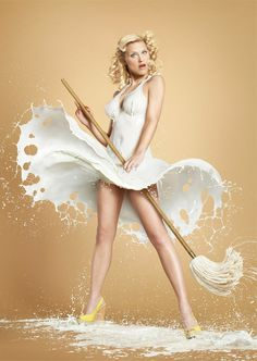 Milky Pin Ups by Jaroslav Wieczorkiewicz #inspiration #pin-up #photography