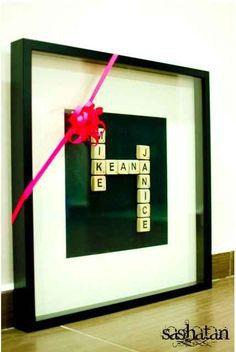 Unique scrabble gift!