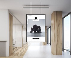 Office Indoor Hanging Poster Mockup
