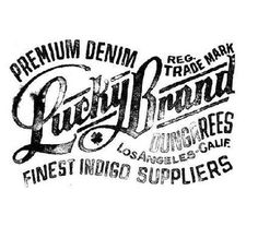 Typography inspiration #fashion #type #brand #lucky
