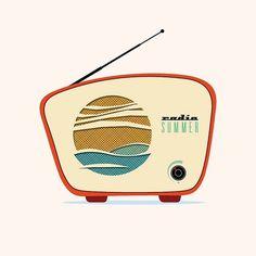 All sizes | radio_summer | Flickr - Photo Sharing! #illustration #radio #summer #anthem #device