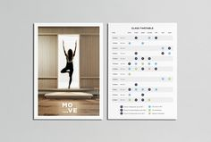 MOVE Yoga by Thomas Williams & Co. #business card #graphic design