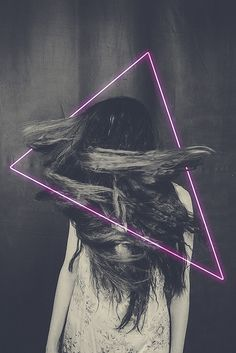 playing with geometry #design #hair #photography #triangle #graphics