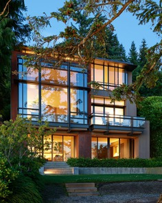 Exterior Lakeside Residence by Graham Baba Architects