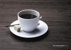 Van Gogh Museum Cafe Advertising #advertising #simple #cafe #minimalistic #advert #van gogh #advertaising