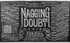 The Case and Point | Dana Tanamachi for Nagging Doubt #dana #lettering #nagging #chalk #tanamachi #doubt