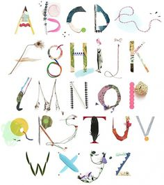 Luci Everett #found #objects #things #items #organic #mix #typography