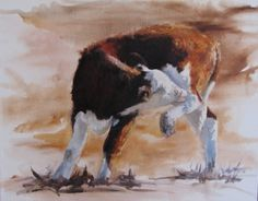 Itchy #cow #elizabeth #durango #painting #art #kinahan
