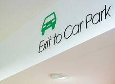 Oxford Street store wayfinding & signage | Cartlidge Levene #signage #type #typography