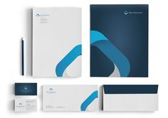 The work of Matthew Wahba #design #graphic #collateral #stationery #blue #letterhead