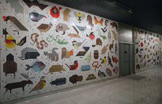 GRAPHIC AMBIENT » Blog Archive » Space For All Species Mural, USA #graphics #wall