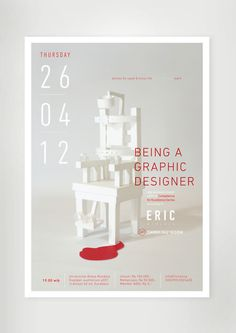 a poster for eric widjaja colloquium #design #graphic #poster #type #typography