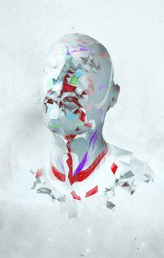 Полигональное отторжение on the Behance Network #digial #design #3d #art