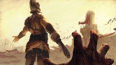 'Two Sides of a Battle' Fantasy Art by Lucas Parolin