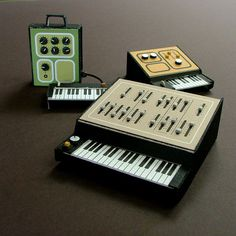 Synthesizers #miniatures #synth #craft #art #paper