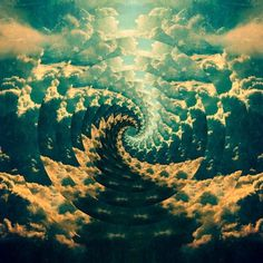 FFFFOUND! | Leif Podhajsky's psychedelic graphics #clouds #psychedelic
