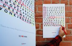 Non profit interactive poster #playful #interactive #cause #design #crossword #poster #fun #social