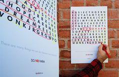 Non profit interactive poster #playful #interactive #cause #design #crossword #poster #fun #social