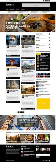yellow, bold, grid, magazine