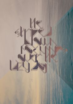 Striped #typography #poster #sea #font #striped