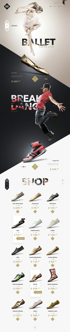 SHOE GURU Shop •Photos along with interaction with type