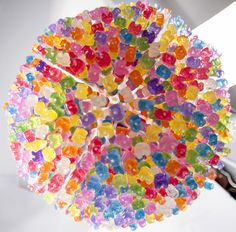 Chandelier Made from 3,000 Gummy Bears by Kevin Champeny #candy #chandelier #bears #gummy