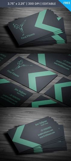 Free Minimal Fitness Business Card Template