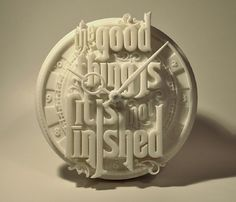 3d printed clock - diligence #printed #type #clock #3d