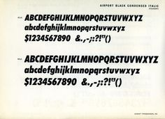 Airport is the Baltimore Type Foundry