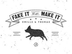 Dribbble - Umille & Thomas by Nathan Walker #clothing #nathanwalker #logo #lockup #type