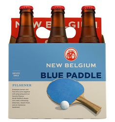 New Belgium Blue Paddle #packaging #beer