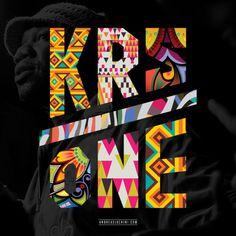 KRS-One #typography #krsone #branding #hiphop #pattern #oldschool