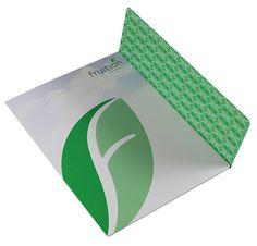 Fruition Partners Technology Pocket Folder Design #leaf #folders #print #presentation #design #pocket #folder #green