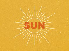 Sun #illustration #type #texture #sun #burst