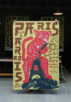 paris poster #studioboot #graphic design #paris #poster #typography #illustration