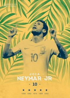FIFA WORLDCUP 2018 on Behance / Soccer Poster / Brasil / Neymar Jr