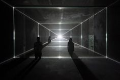United Visual Artists — Vanishing Point #lines #perspective #black #people #photography #light