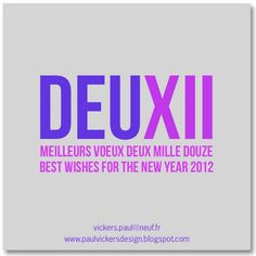 Paul Vickers : Design Thinking #year #2012 #deux #xii #new