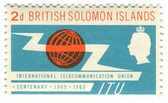 All sizes | British Solomon Islands postage stamp: ITU Centenary | Flickr Photo Sharing! #illustration