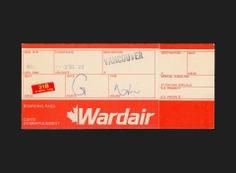 Wardair Boarding Pass - Canada Modern