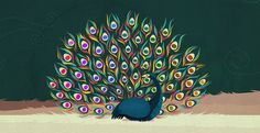 pantone peacock #illustration #color