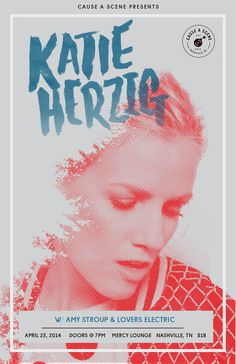 Katie Herzig — JDSN— Nashville based graphic designer for big brands and great bands #halftone #lettering #ink #katie #gig #portrait #poster #concert #herzig