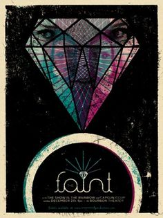 GigPosters.com - Faint, The - Show Is The Rainbow, The - Capgun Coup #faint #gig #design #print #doe #the #screen #illustration #poster #eyed