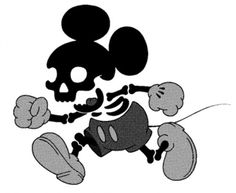 Sowf. #illustration #skull #mickey mouse