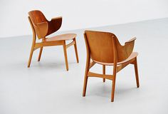 HANS OLSEN, model 107 lounge chair, birch and teak plywood #furniture