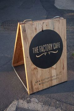 A gorgeous sandwich board. #signage