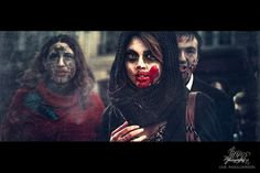 Paris Zombie Walk | Cuded #blood #paris #girl #horde #mob #beautiful #zombie #walk